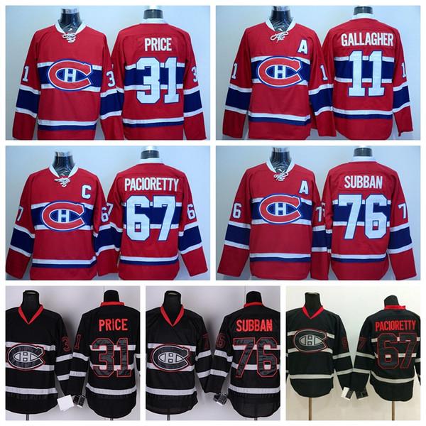 4e734edcb 2016 Best Montreal Canadiens 31 Carey Price Ice Hockey Jerseys Sale Red  Black 11 Brendan Gallagher 67 Max Pacioretty 76 P.K. PK Subban