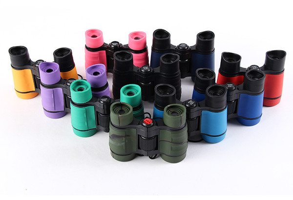 Newest 4x30 Plastic Children Binoculars Pocket Size Telescope Maginification For Kids Outdoor Games Boys Toys Gift SC058