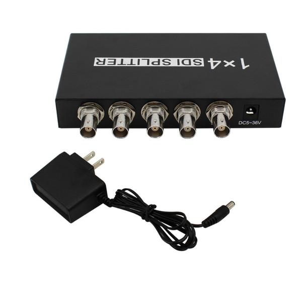 Freeshipping SDI Splitter 1x4 Multimedia Splitter SDI Extender Adapter Support 1080P TV Video for Projector Monitor DVR