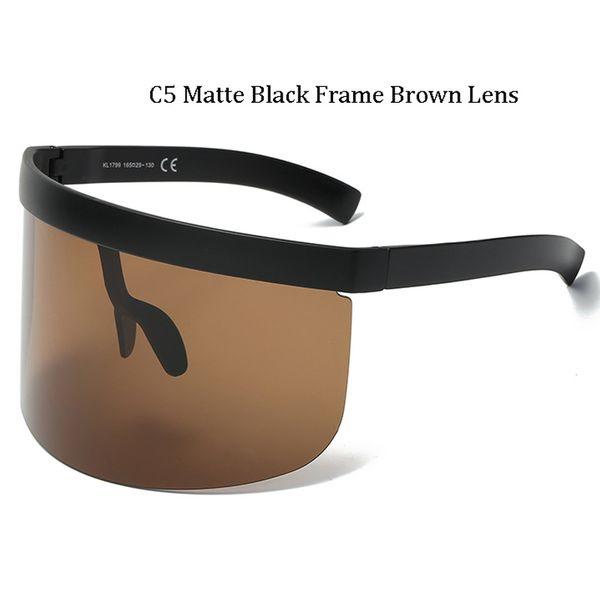 C5 Matte Black Frame Lentille Marron