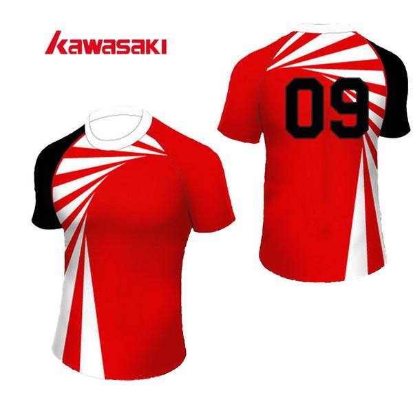 52507e54b Wholesale- Original Brand Kawasaki Men  Women Rugby jersey Top Custom Plus  Size Polyester Train Practice Sporst Rugby Top Shirt. US ...