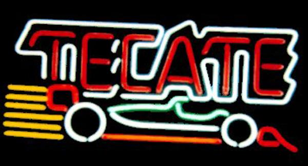 "Tecate Indy Car Neon Sign Custom Handmade Real Glass Tube Store Beer Bar KTV Club Hotel Advertisement Display Neon Signs 17""X10"""