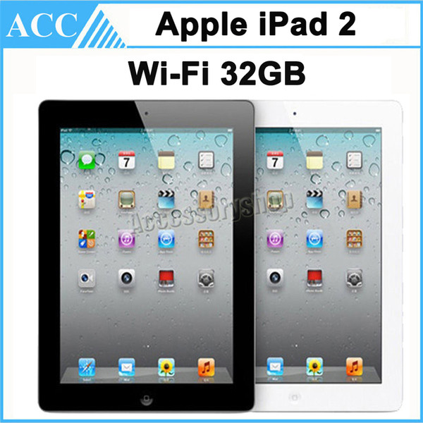 top popular Refurbished Original Apple iPad 2 32GB WIFI 9.7 inch IOS A5 Warranty Included Black And White Free DHL 2020