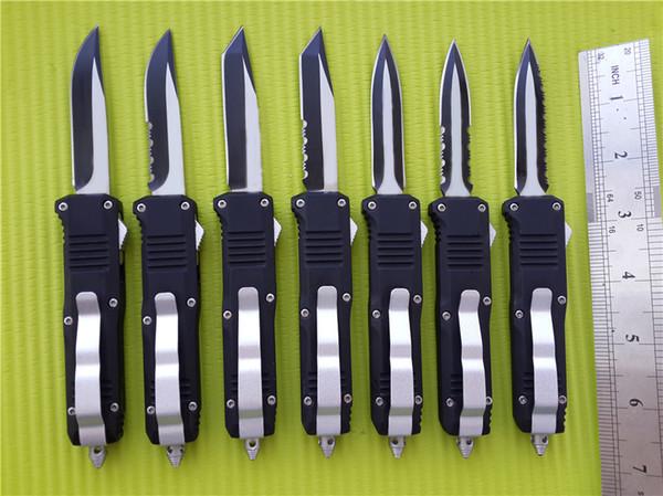 BM C07 HK mini dupla ação facas automáticas 440 lâmina de aço inoxidável Faca de bolso com bainha de nylon e caixa de varejo A162 G707