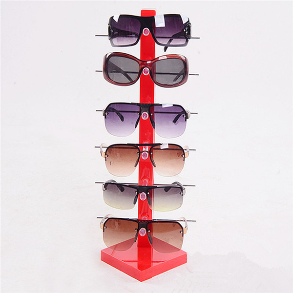 top popular Wholesale-2016 New High Quality 6pc Sun Glasses Display Stand Fashion Acrylic Glassess Frame Rack Holder Eye Glasses Show Stand Holder 2021
