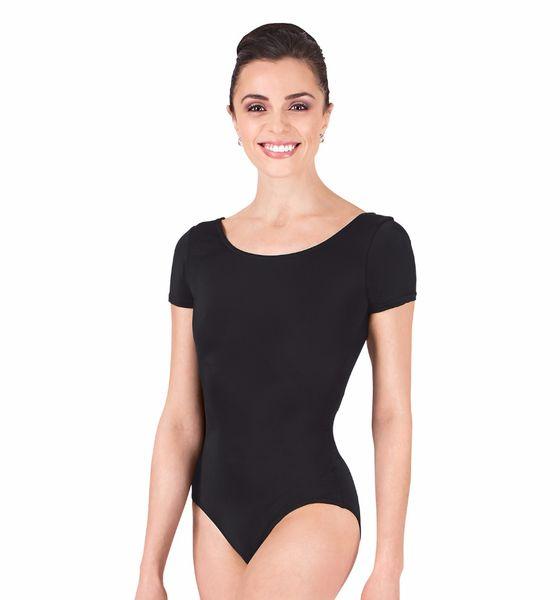b272213f4b Wholesale-Black Short Sleeve Leotard Womens Gymnastics Unitard Bodysuit  Adult Ballet Leotards Plus Size One Piece Leotard