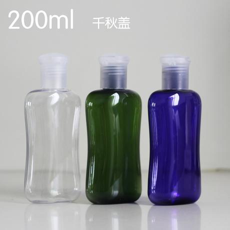 Оптово - 200мл плоская бутылка любимчика пластичная упаковка бутылки шампунь гель для душа детская розлива упаковки завод Оптовая