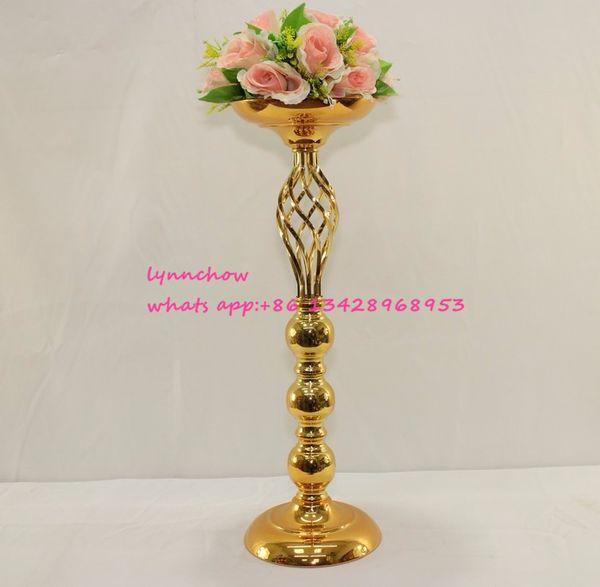 Wedding table centerpiece 61cm 24 gold wedding centerpiece wedding 10pcs lot wedding table centerpiece 61cm 24 gold wedding centerpiece junglespirit Image collections