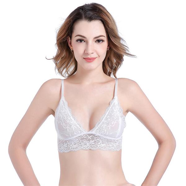 Novo Estilismo Best Seller Bras Sem No Aço Anel Underwears Sem Costura Para As Mulheres Western Gather Thin Sexy Sutiã de Renda S-L Tamanho