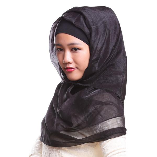 DHL GRATUIT soie, comme bandeau islam mode foulard musulman hijab à long  turban imprimé châle voile turban