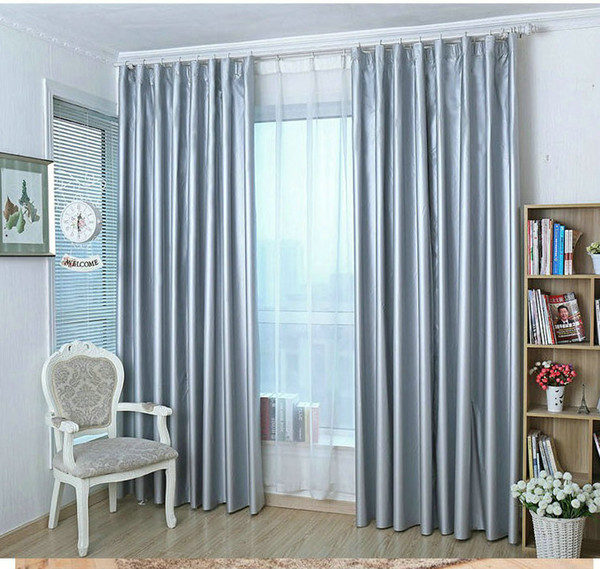 top popular 100% Blackout curtain for summer eco-friendly heat insulation anti-UV waterproof curtains double sides silvery coated Ready made 2020