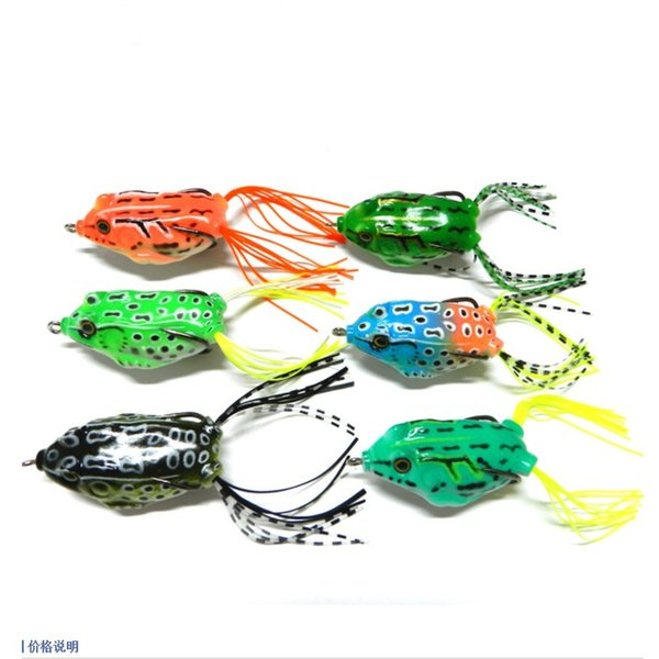 6PCS Snakehead Fishing Lures Combo 5.5cm Frog Soft Plastic Baits Sets 12.5g Lifelike Frog Fish Fishing Tackles