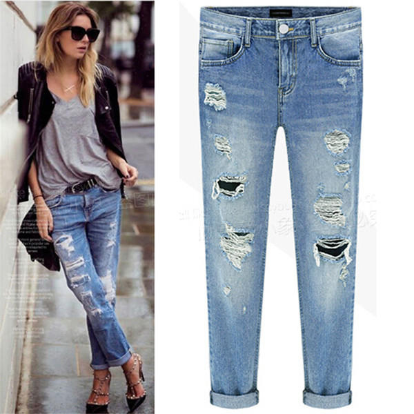e6cda45fb16 2016 Hot Selling jeans for women New Style High Quality Designer Jeans Women  Fashion Style ripped jeans women