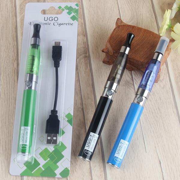 Charge by side Electronic Cigarette Kits Vape CE4 ego single CE4 vaporizer blister kits 650mHA UGO-T Micro USB Pass Through battery