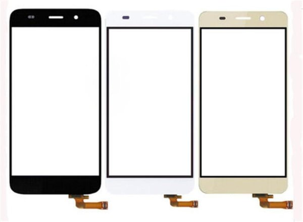 """5PC /Lot High Quality 5.0"""" For Huawei Honor 4A Y6 Touch Screen Digitizer Sensor Front Glass Lens Panel Black White Free Shipping+Tracking"""