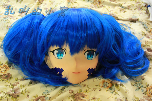 Anime giapponesi Kigurumi Belle transessuali Maschere Travestiti Full Face Mask Cartoon Cosplay può personalizzare capelli / occhi