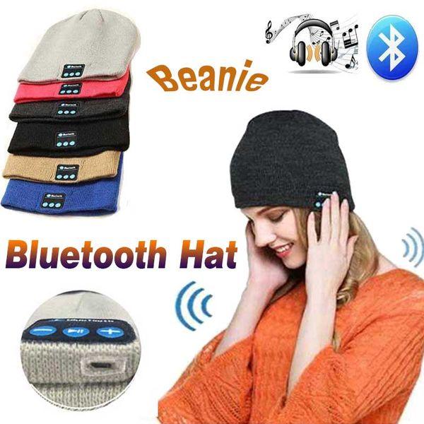 Bluetooth Hat Music Beanie Cap Bluetooth Wireless Earphone Smart Cap Headset Headphone Speaker Microphone Handsfree Music For Smart Phone