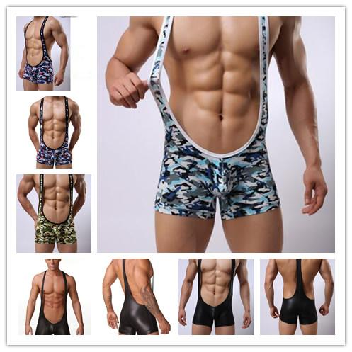 top popular Sale Soft next to nothing bodyshaper undies Sexy camouflage Stretchy Singlets Wrestling Bodysuit men's undershirts Jumpsuit mix order 2019