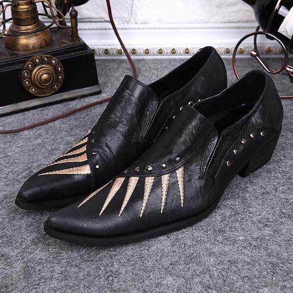Großhandel 2017 Japanische Art Leder Schuhe Schwarzes ...