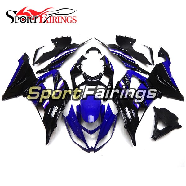 Blue Black Full Fairings For Kawasaki ZX6R 636 2013-2015 ABS Plastic Injection Motorcycle Bodywork Cowlings Body Kit Covers Hulls