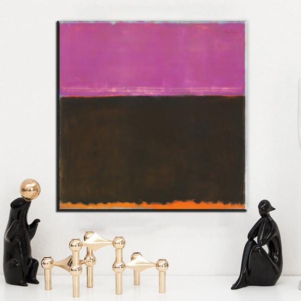 Acheter Zz173 Toile Abstraite Art Marque Rothko Gris Rose Couleur Toile Huile Art Peinture Mur Images Pour Salon Chambre Décorations De 7 23 Du