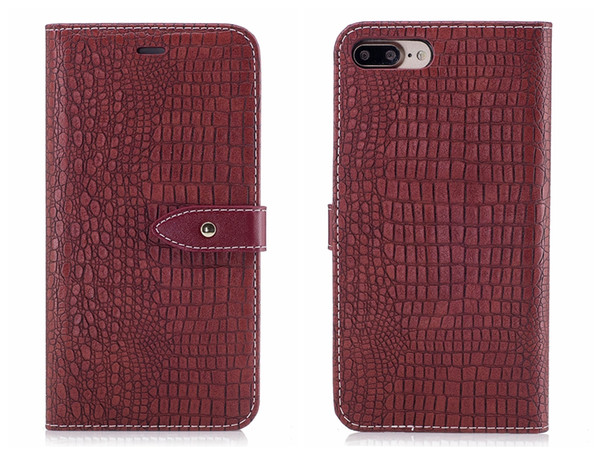 New Flip Cover For iPhone 6 6s 7 8 X Plus Case Leather Luxury Alligator Leather Crocodile Skin For iPhone6 iPhone7 Plus Case