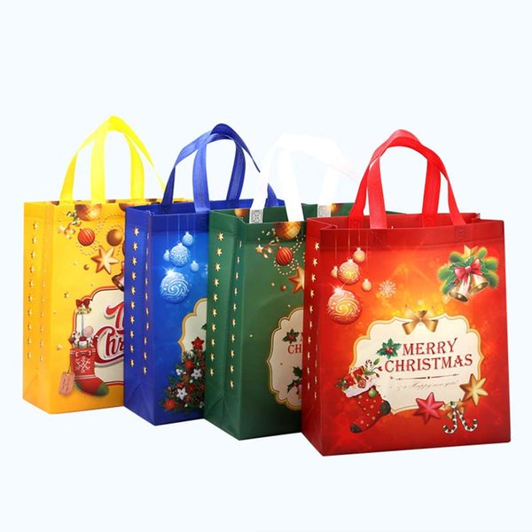 Large capacity shopping bag of christmas 4 colors non woven gift bags high quality cheap price bag wholesale
