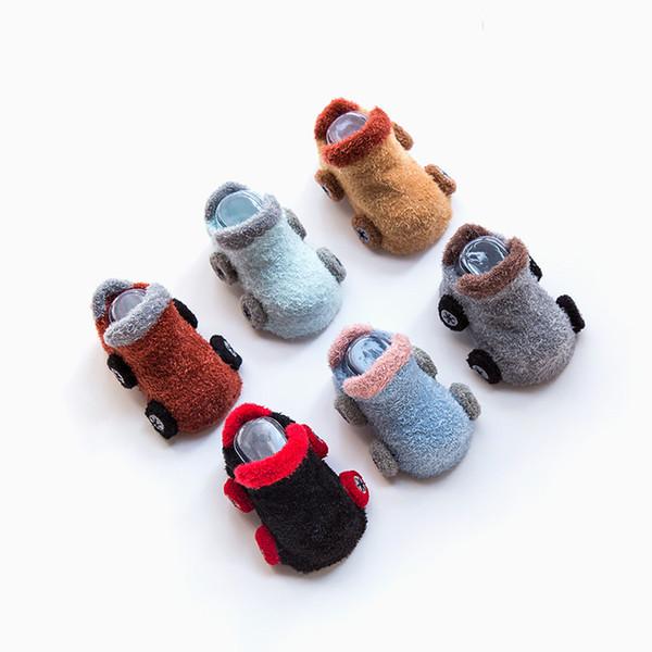 Kids Baby Socks 3D Infant Korean Cartoon Car Non Slip for Boys Girls Toddler Newborn Children Slippers Cute New
