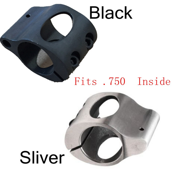 Tactical CNC Steel Low Profile Micro .223 Gas Block with Roll Pin .750 Fits Inside Under Quad Rail