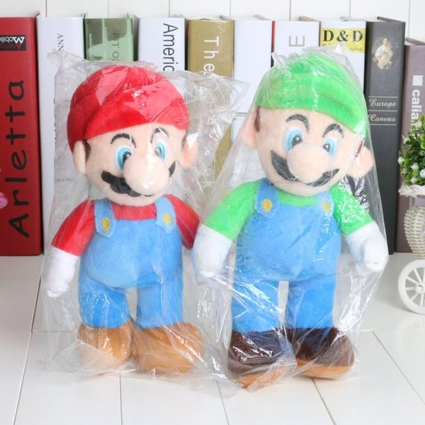 Super Mario Plush 10inch(25cm) Mario Soft Plush Dolls Luigi Marios brothers plush toys Soft Toy Best Gift DHL Free Shiping