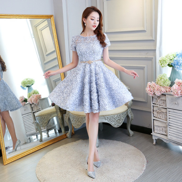 b61752a65c New Design Evening Dresses with Short Sleeve Real Bride Gown Fashion Ball  Prom Party Homecoming Formal