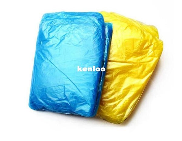 Fashion Hot Disposable PE Raincoats Poncho Rainwear Travel Rain Coat Rain Wear Gifts Mixed Colors