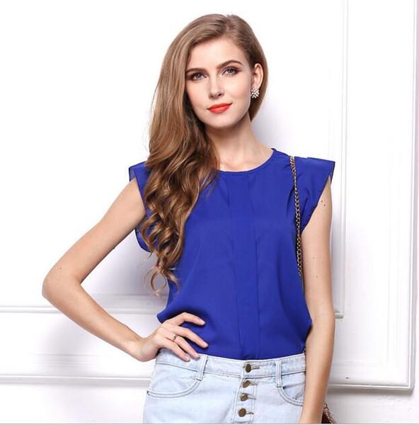 Fashion Women's Summer Vest Camis Tanks Tops Chiffon Sleeveless T-shirt Ladies Blouse Tops Plus Size Casual S-XL