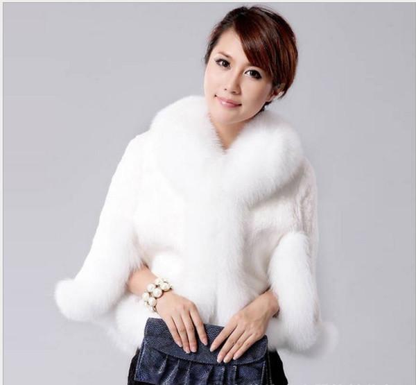 Haining, China 2019 new women fur coat, super fox fur collar short jacket, winter bridal outfit