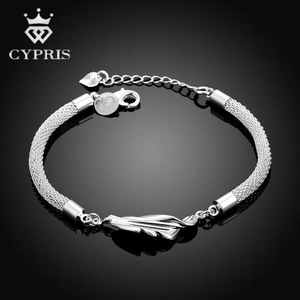 Großhandels-H361 Leaf Style handgemachte Frauen europäischen Charme Silber Armband 2016 Großhandel Phantasie Promotion Bulk klassischen Luxus Schmuck 925