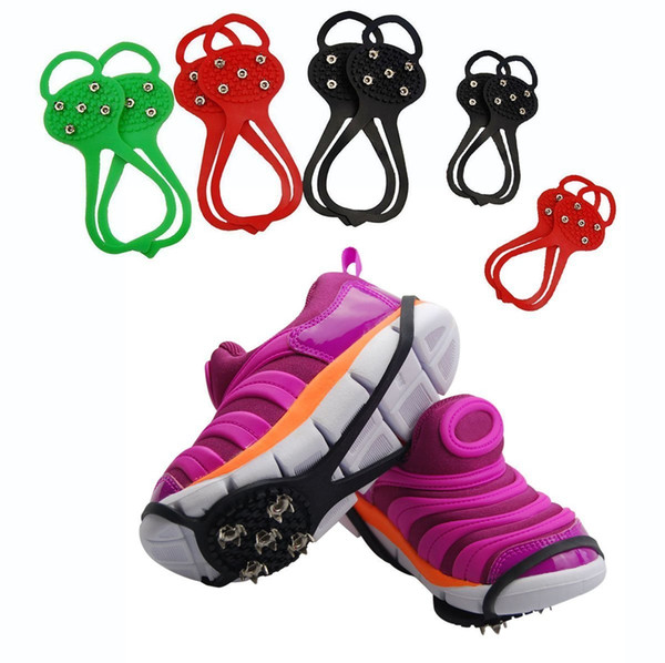 Ice Snow Anti Slip Spikes Grippers Grips Cleats Crampons for over Shoes or Boots