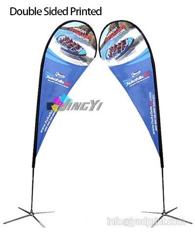 3 m de haut Full Custom impression couleur impression drapeaux de plage / bannière graphique drapeau / bannière de la société / bannière impression logo, 5pcs / beaucoup