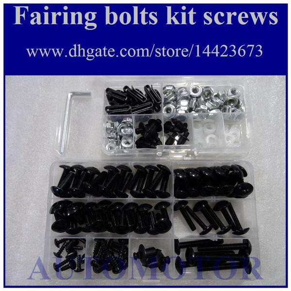 Kit de tornillo completo para pernos de carenado Para KAWASAKI ZZR250 90-09 ZZR 250 ZZR-250 2003 2004 2005 2006 2007 2008 2009 1A159 Tuercas de tuerca de cuerpo Tornillos de perno