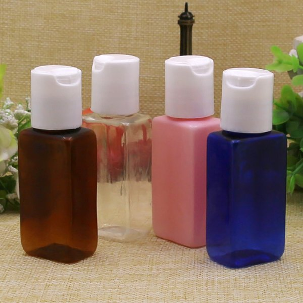 Бесплатная доставка 100 шт. 30 мл контейнер образец очиститель, шампунь для хранения с Чиаки крышка пустая прозрачная упаковка пластиковые квадратные бутылки