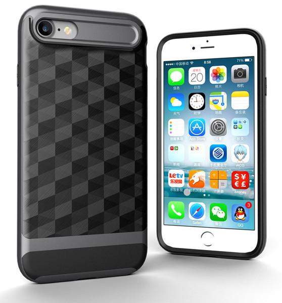 Для случая iPhone 8,3 в 1 ультра тонкий и тонкий трудный случай покрыл Non поверхность призмы Выскальзования 3D с рамкой ПК на iPhone 6/6s/7/8 Яблока (4.7