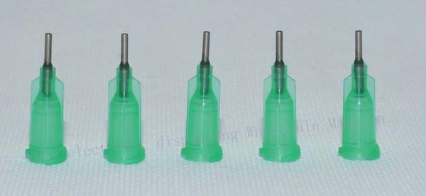 wholesale 18G W/ ISO standard Dispensing needles PP luer lock hub 0.25-inch tubing length precision S.S. dispense blunt tips