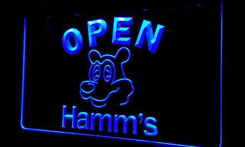 Ls251-b Hamm's Beer OPEN Plaque lumineuse au néon