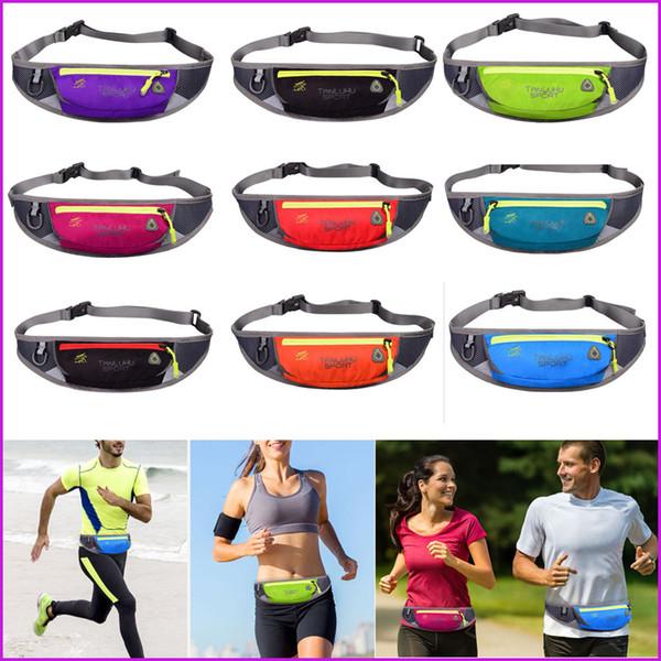 Waterproof Material Running Jogging Waist Belt Bags, Waistpacks, Sport Outdoor Pack Pocket Cell Phone Bag With Headset Hole