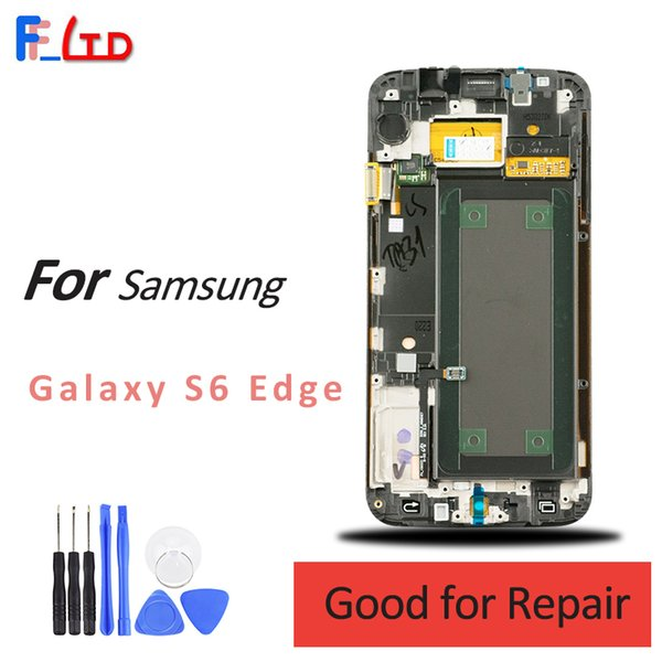 G925 Touch Screen panel For Samsung Galaxy S6 Edge Original LCD Display G925A G925V G925T LCD Digitizer Assembly