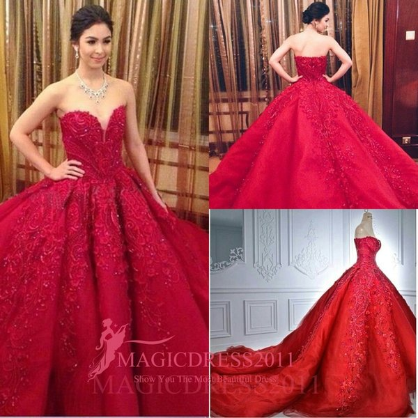 Stunning Red Evening Prom Dresses 2016 Special Occasion Dress Ball ...