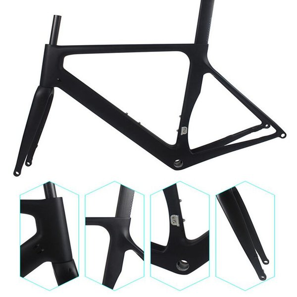 Free shipping Newest racing road frame VE-GE weight 1985g with handlebar SIZE 49/58cm bicycle frames factory direct sales