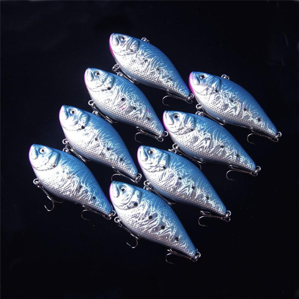 Bionic 3D Holographic VIB Artificial Fishing Lure 7.5cm 18g No lip Bill Rattles Flake reflection Baits Diving Depth 0.5-2.5m