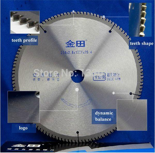 top popular Free Shipping diameter 10 inches 254*2.8*120T*25.4 circular saw blade aluminum for cutting profile pipe tube sell from factory 2021