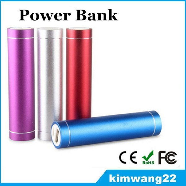 top popular Colorful Metal Power Bank Portable 2600mAh Square PowerBank External Emergency Backup Battery Charger for Mobile Phones Samsung S7 IPhone 6s 2019