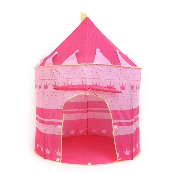 PINK/BLUE A Beautiful Cubby House Portable Foldable Folding Castle Kid Child Baby Play Tent Fun Playhouse Outdoor Indoor Tent Den Prince